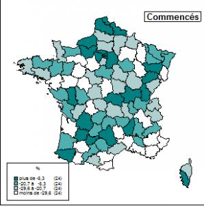 Statistiques janvier 2013 constructions commencées