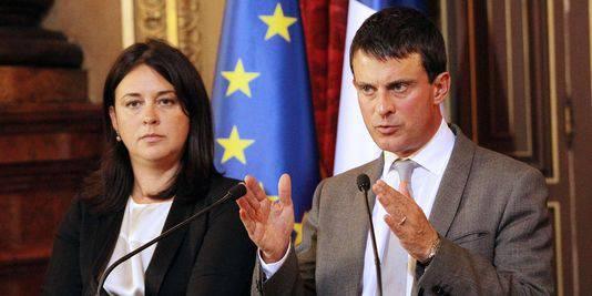 Les mesures gouvernementales pour relancer l'immobilier Manuel Valls et Sylvia Pinel